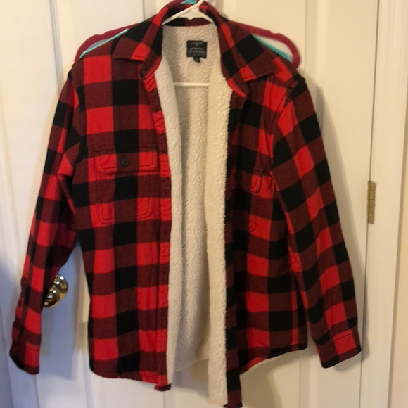 J. Crew Other - Mens red and black plaid jacket